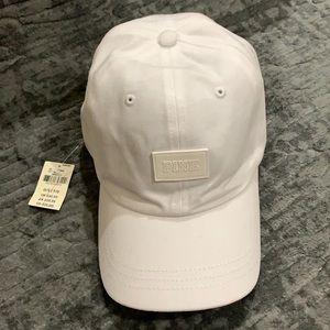 Victoria's Secret PINK white baseball cap hat